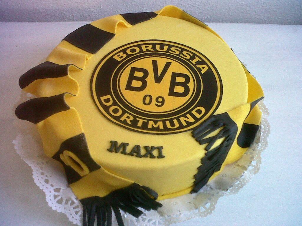 Bvb torte fussball torten pinterest for Kuchen dortmund