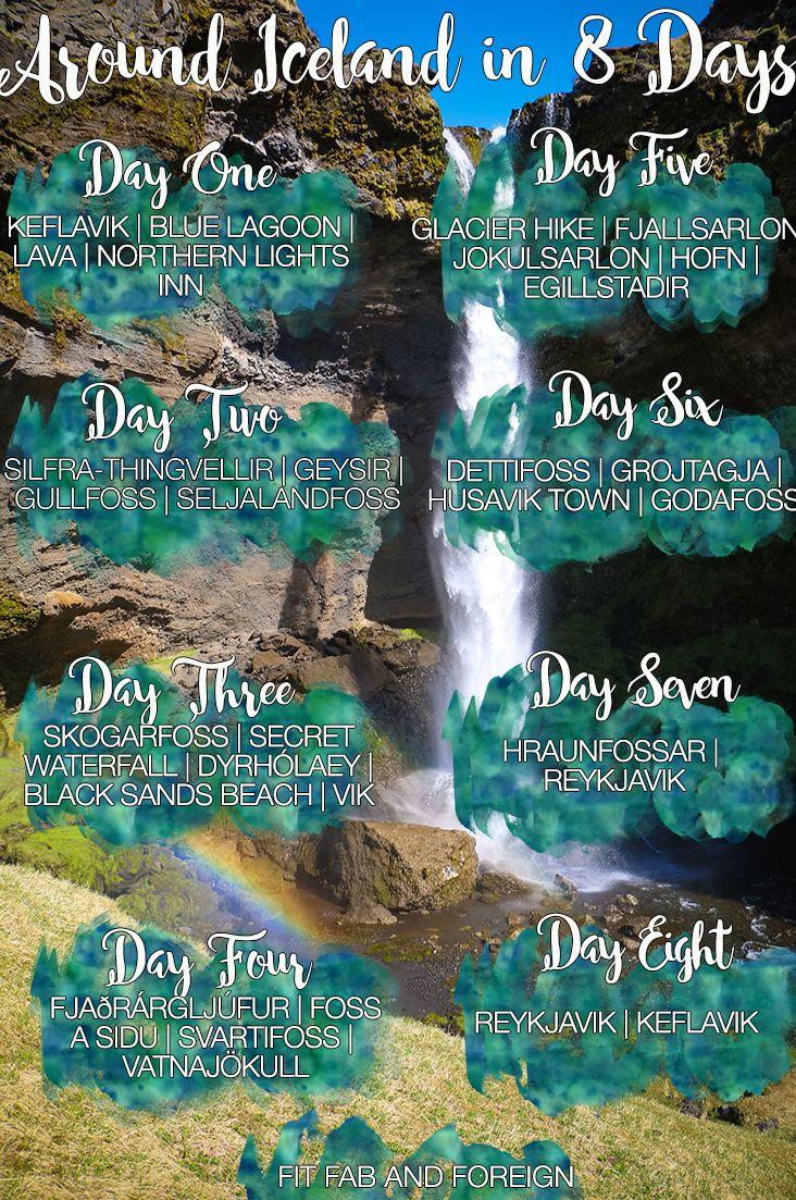 How to see everything in Iceland in 8 days!! It's the perfect itinerary for the ring road!