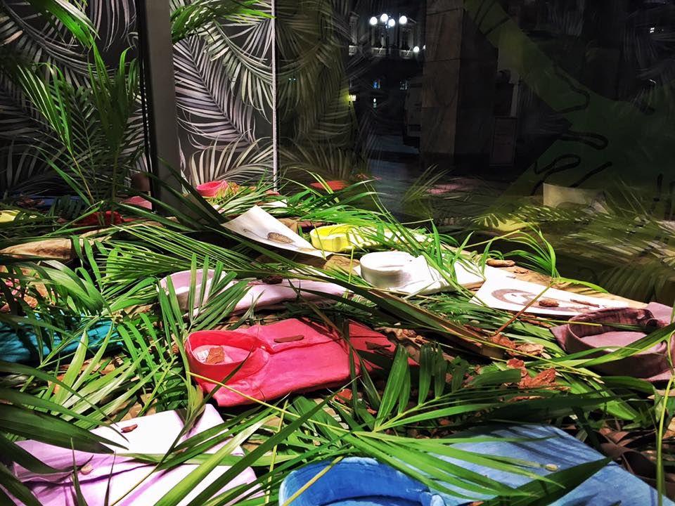 Green Xacus window at La Rinascente Milano! Visual Merchandising at best