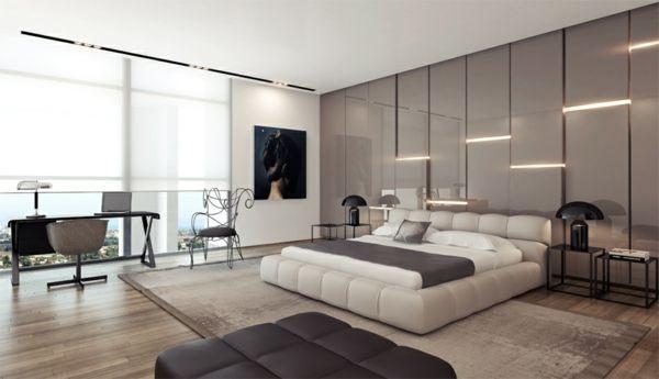modernes elegantes schlafzimmer arbeitstisch bild Schlafzimmer