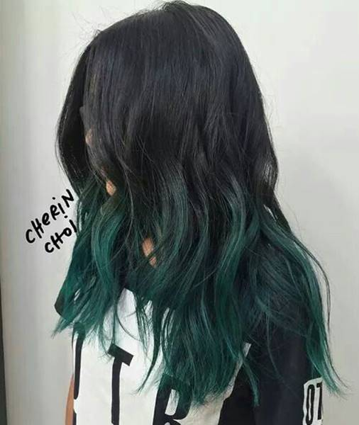 Pin By Asia Terbasket On العناية بالشعر Hair Color For Black Hair Dark Green Hair Hair Styles