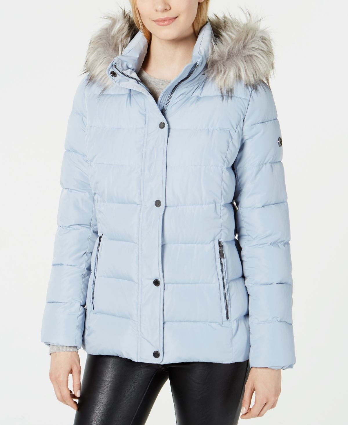 Calvin Klein Hooded Faux Fur Trim Puffer Coat Created For Macy S Powder Blue Hooded Faux Puffer Coat Big Clothes [ 1466 x 1200 Pixel ]