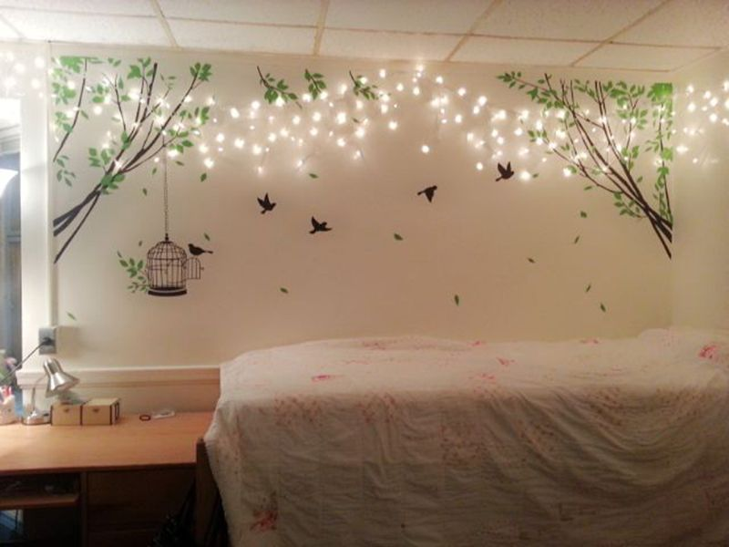 How To Decorate Bedroom With Rope Lights Wall Decor Bedroom Bedroom Wall Master Bedroom Wall Decor