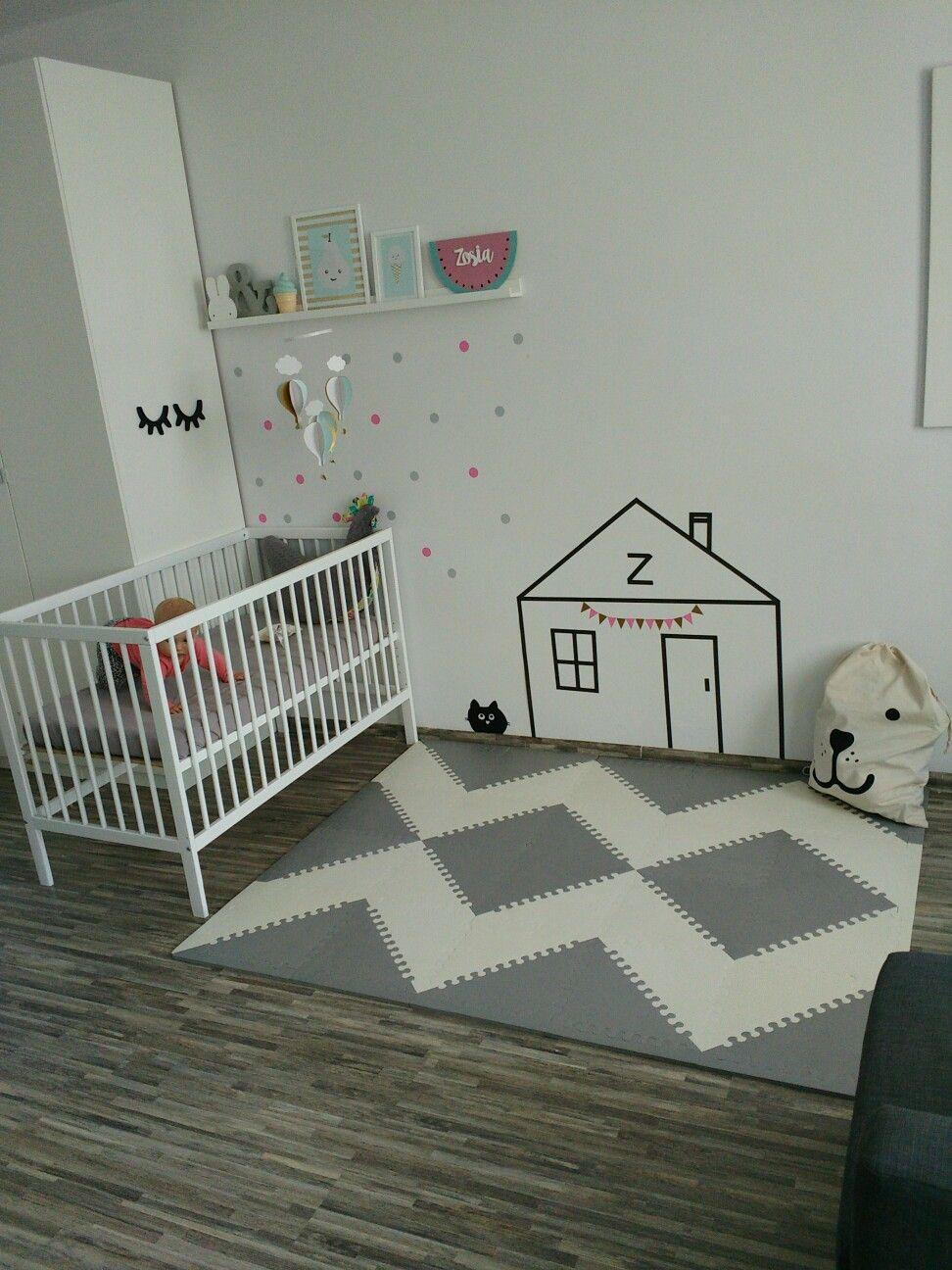 Superb Mata Skip Hop Szara / Washi Tape Kids Room/ Mokke Bed