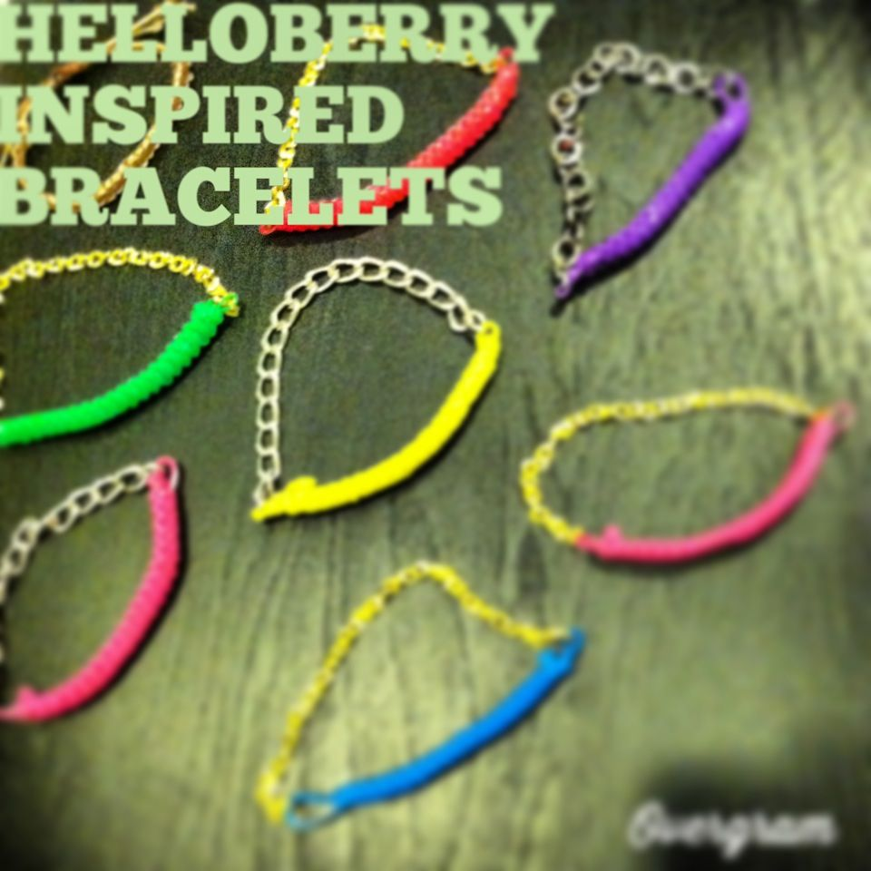 Handmade HelloBerry inspired bracelets available in a variety of colors. Comment with questions if interested