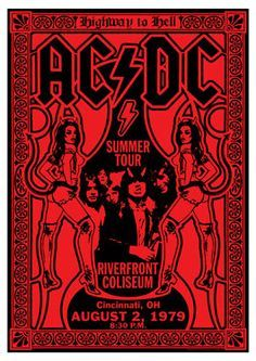 Rock Posters Band Gig Poster Amp Concertposters Acdc Music Blackandred Gigposters Concert