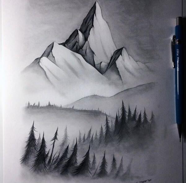 Mountain Landscape Drawings