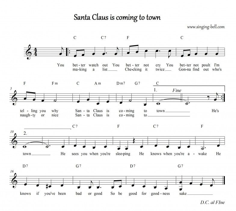 Santa Claus is Coming to Town | Santa claus is coming to ...