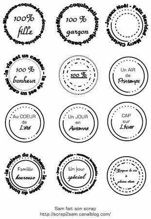 Extrêmement Etiquettes gratuites à télécharger et à imprimer : forme ronde  MH72