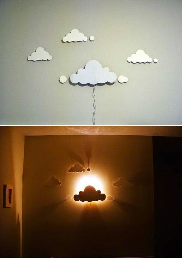 Lampara Tipo Aplique Con Forma De Nubes Con Imagenes Decoracion Restaurantes Reciclar Decoracion De Pared