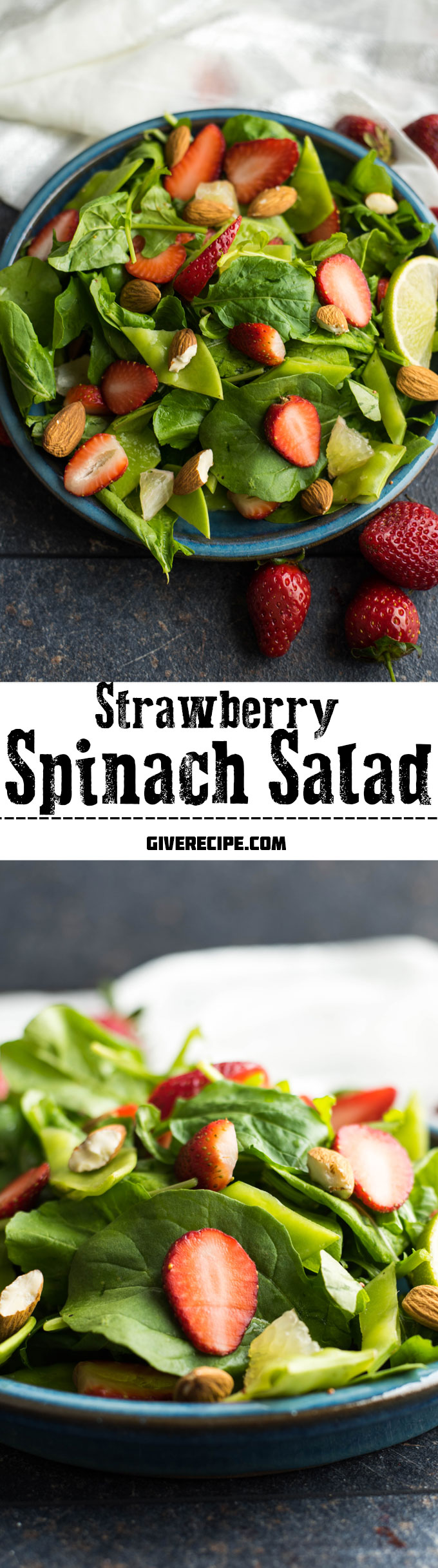 Strawberry Spinach Salad Give Recipe Recipe Spinach Strawberry Salad Healthy Salad Recipes Spinach Salad