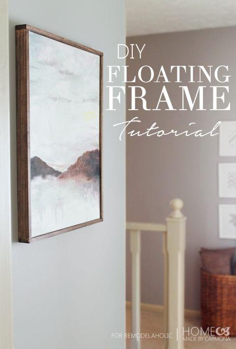 Diy Floating Frame Tutorial Remodelaholic Diyframe