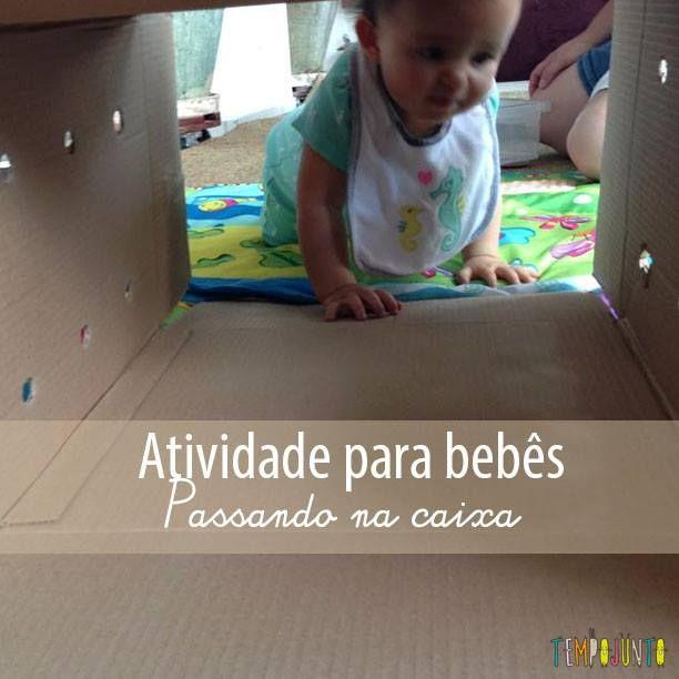 Atividade Para Bebes Com Caixa De Papelao E Bolas Com Imagens