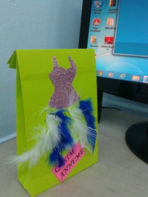 Anneler gunu hediye paketi kendi tasarimim...