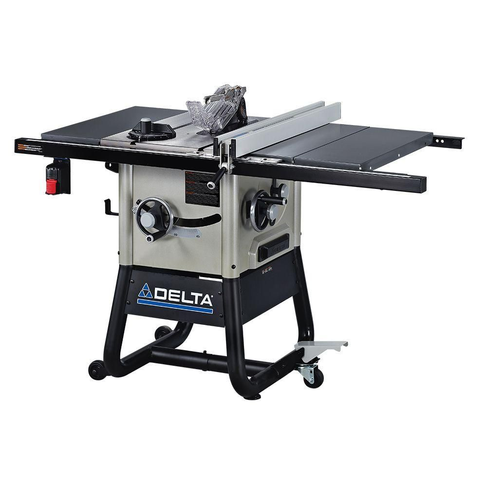 Delta 15 Amp 10 In Left Tilt 30 In Contractor Table Saw With Steel Wings 36 5000 The Home Depot Contractor Table Saw Delta Table Saw Table Saw