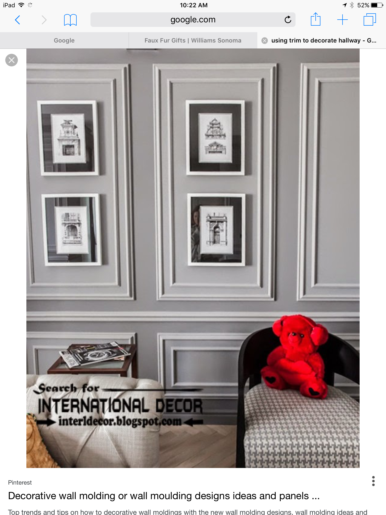 . Pin by Terrie Fanucchi on Hallways in 2019   Wall molding  Wall trim