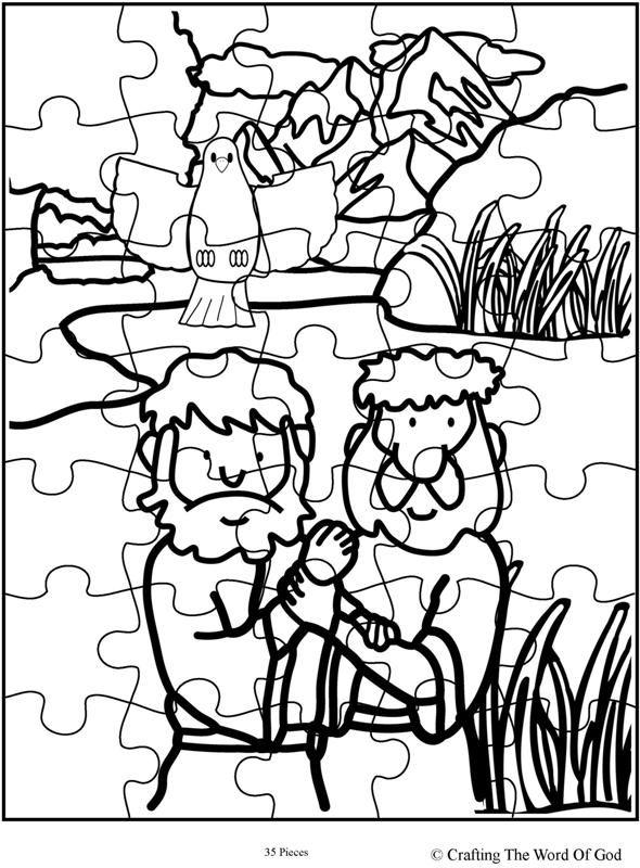 Jesus Baptism Puzzle (Day 3) | VBS 2018 | Pinterest | Colorear