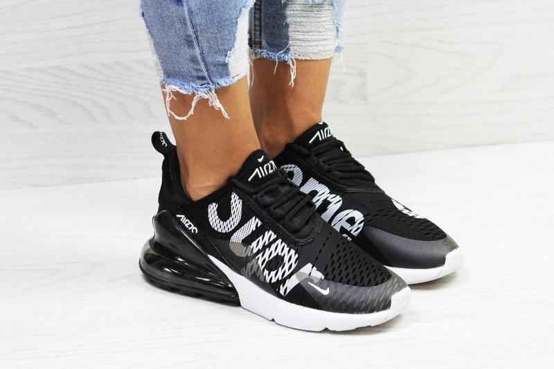 a7724e91 Женские кроссовки Nike Air Max 270 Supreme Black - лидер продаж среди  женской обуви в 2018