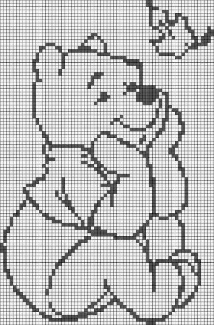 Crochet Patterns Free Blanket Disney Winnie The Pooh 46 Ideas #filetcrochet