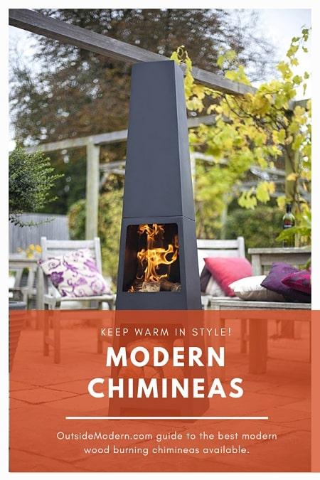 The Modern Chiminea Nine Top Models Reviewed Outsidemodern In 2020 Modern Chimineas Chimnea Outdoor Outdoor Heating