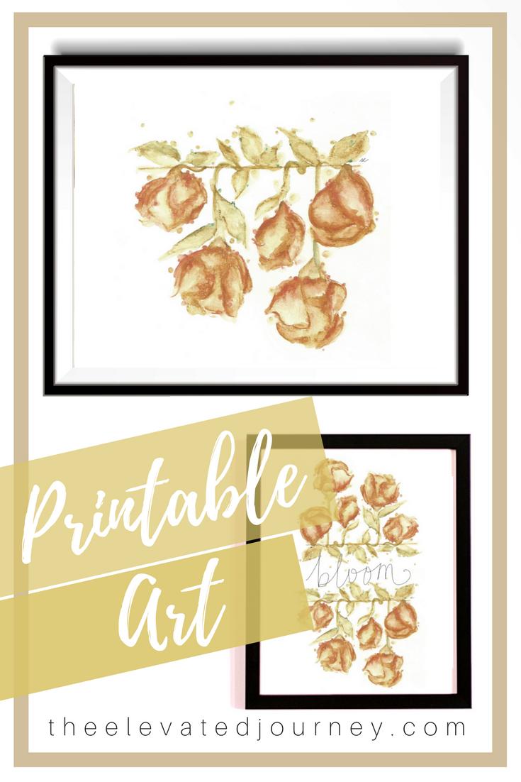 Wall Art Printable Art Print Watercolor Clipart PDF Watercolor Art ...