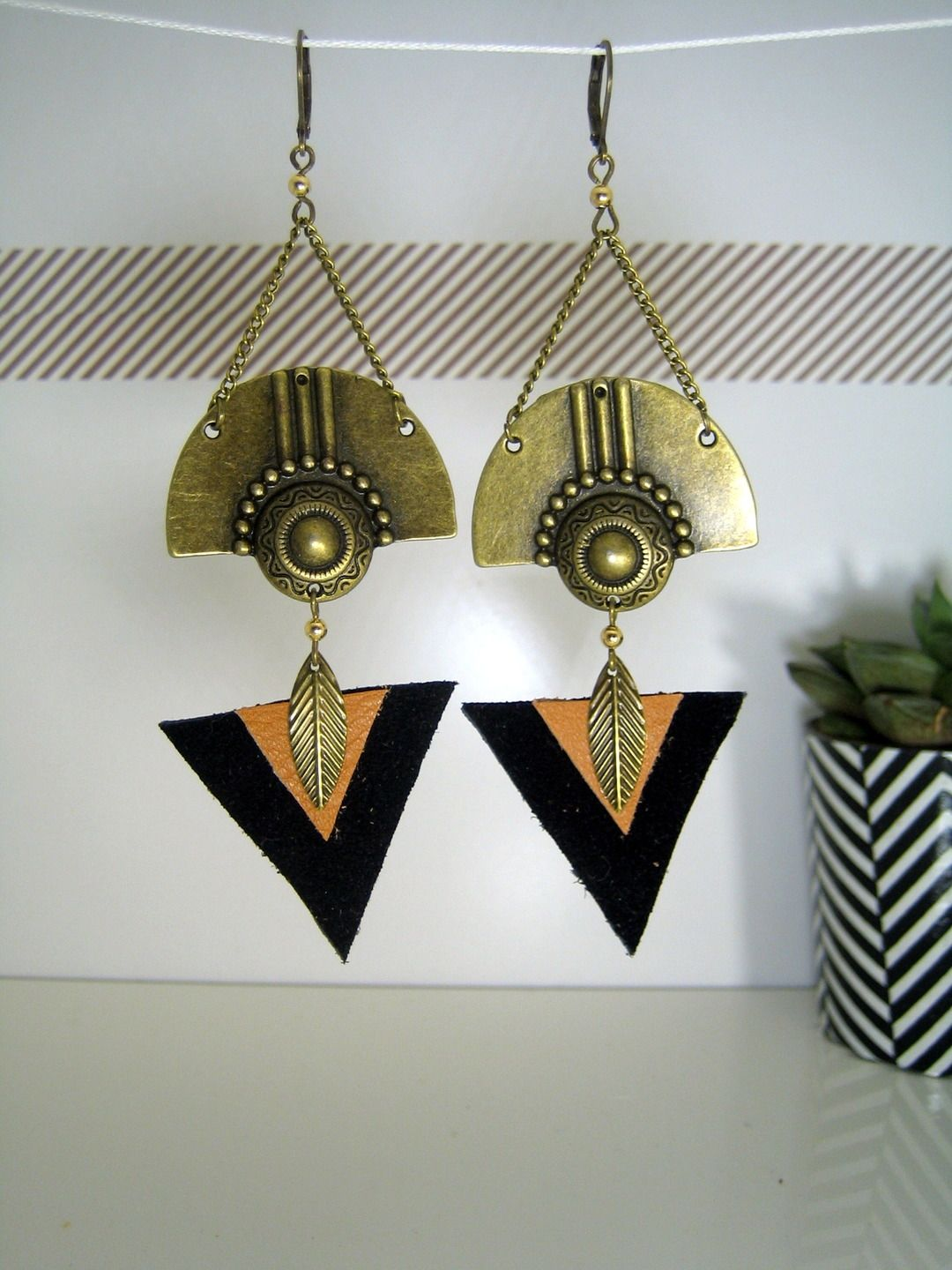 diy boucles d oreille ethnique bijoux la mode. Black Bedroom Furniture Sets. Home Design Ideas