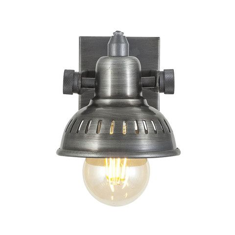 Vintage adjustable swivel spotlight wall light flush mount single