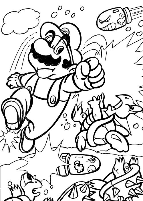 Coloring Page Mario Bros Video Games 17 Printable Coloring Pages Super Mario Coloring Pages Mario Coloring Pages Coloring Pages