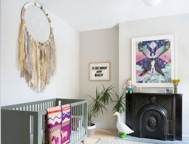 habitaciones de bebs decoradas con atrapasueos esta tendencia decorativa es original y muy romntica un complemento muy original para las paredes - Habitaciones De Bebe Originales