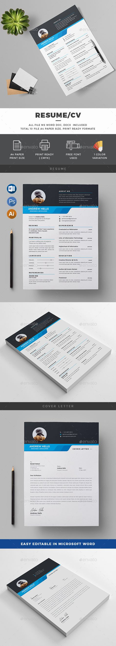 Resume (With images) Resume design template, Simple