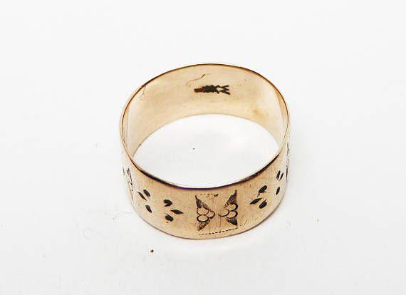 Victorian 10k Rose Gold Ring Wedding Band 1860s Civil War Etsy Gold Band Wedding Ring Rings Jewelry Simple Fabulous Rings