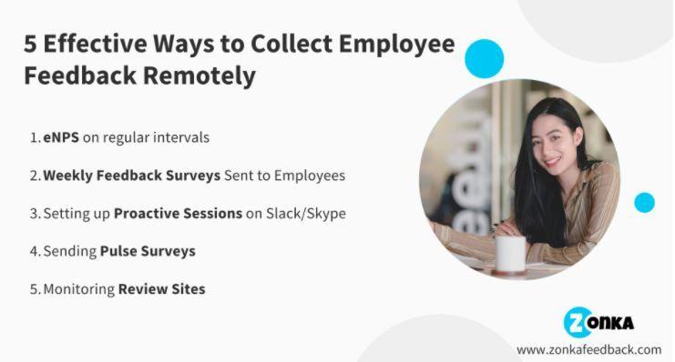 5 Effective Methods To Collect Employee Feedback Remotely In 2020 Employee Feedback Employee Retention Employee Satisfaction
