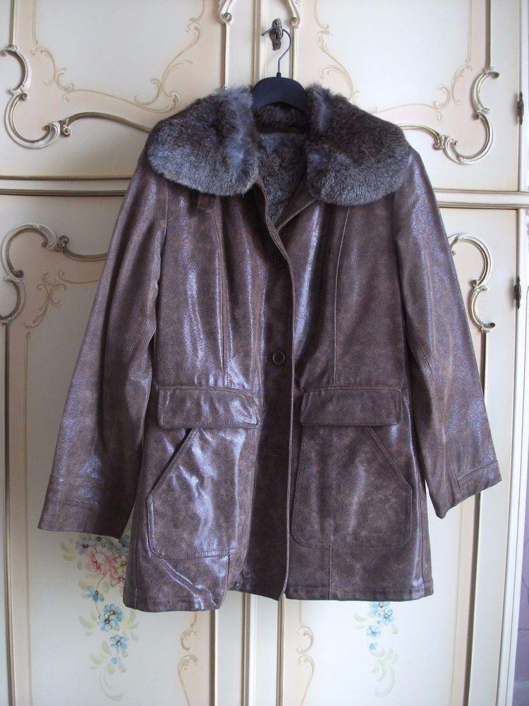 low priced 5e3d2 78e5a Fuori Di E Smanicato Dentro Pelliccia Pelle Giacca Splendida ...