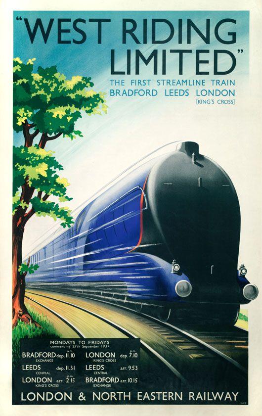 Britian Railway Poster 18x24 1930s London /& North Eastern Railway