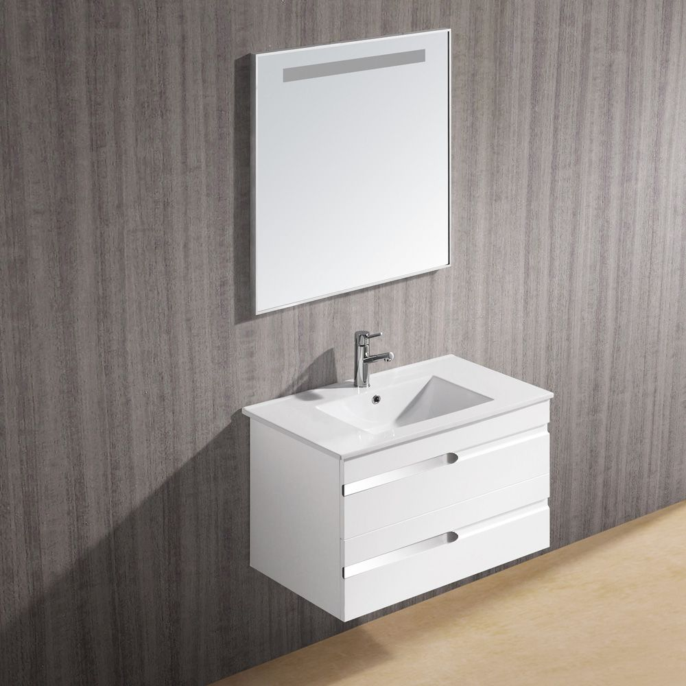 The Vigo Ethereal Petit Is A Wall Mounted White Gloss Contemporary