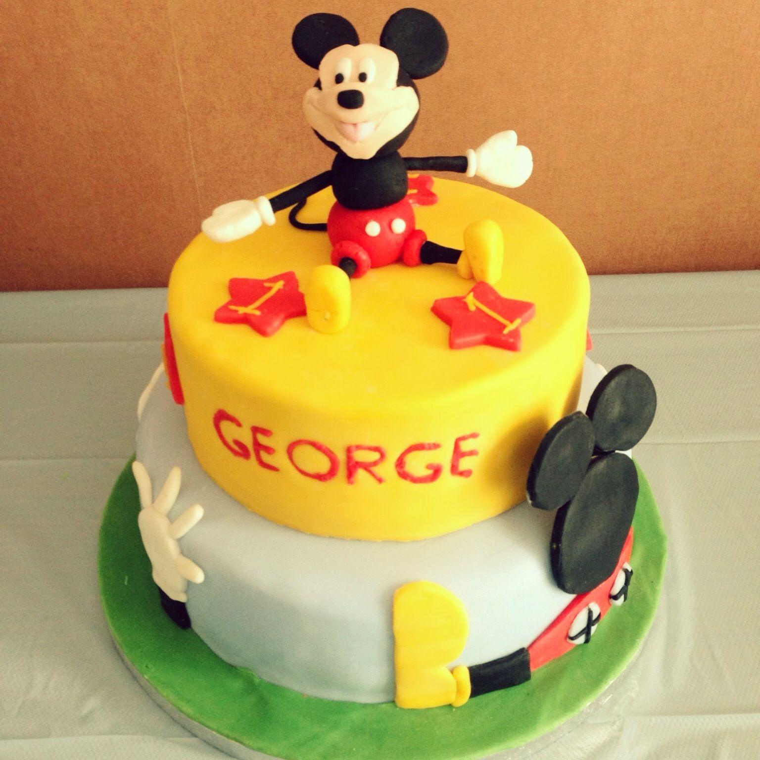 Mickey Mouse Clubhouse theme birthday cake Handmade sugarpaste