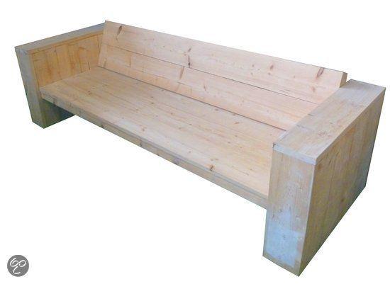 Bol xsteigerhout loungebank diep bouwpakket tuin