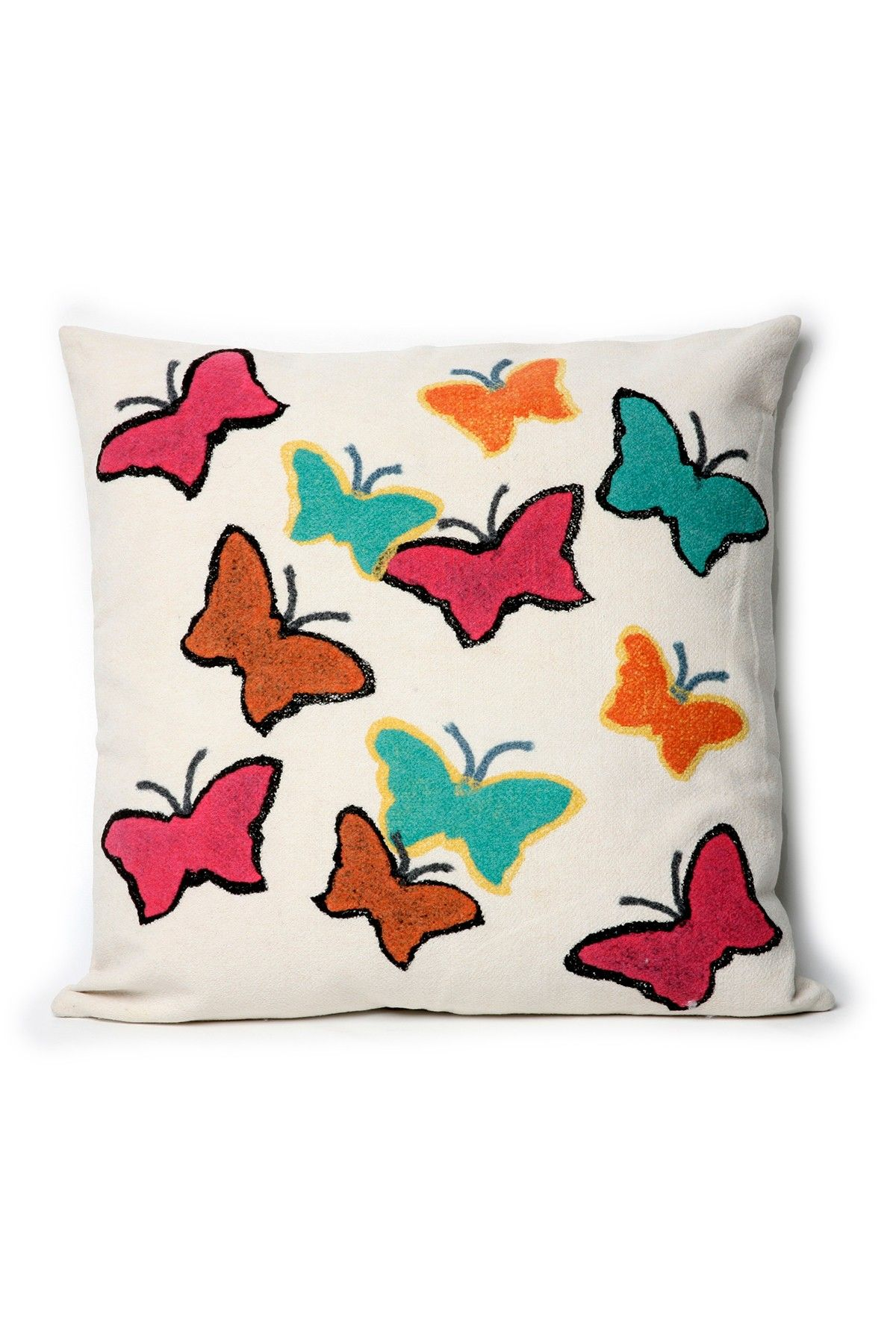 Visions Ii Butterfly Collage Indoor Outdoor Pillow Pink 20