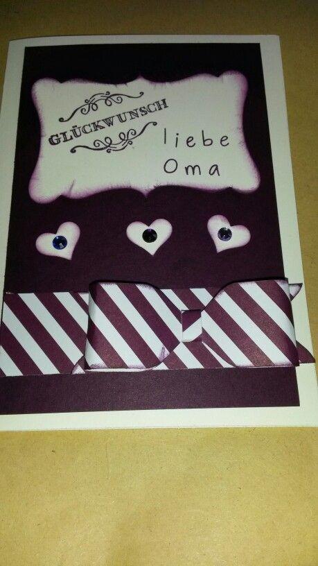 Geburtstagskarte Schleife Mit Envelope Punch Board Meine Stampin