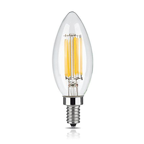Lucero Led Filament Healthy Edison Light Bulb 6w 60w Equivalent C35 Candle E12 Candelabra Base Dimmabl Edison Light Bulbs Vintage Light Bulbs Edison Lighting
