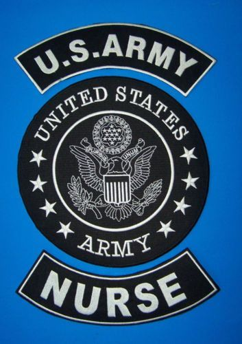US ARMY COMBAT MEDIC NURSE BACK PATCHES FOR VETERAN VET BIKER VEST JACKET