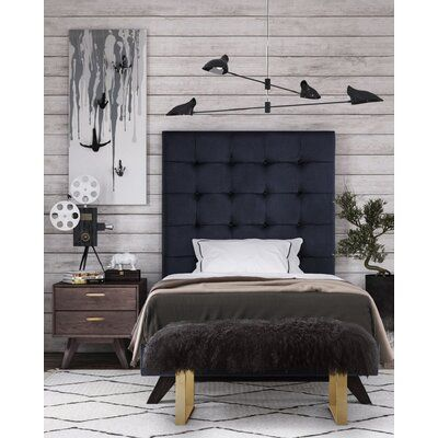 Everly Quinn Tammie Upholstered Platform Bed Color: Gray, Size: Twin images