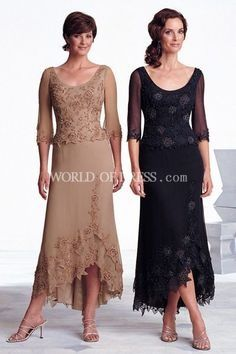 Tea length mother of the groom dresses for fall #groomdress