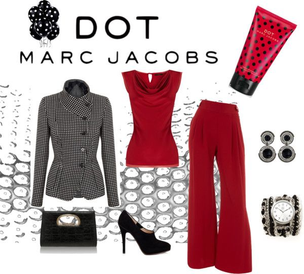 """Career Dot com- #MARCtheDOT with Marc Jacobs Fragrance"" by tanherb on Polyvore"