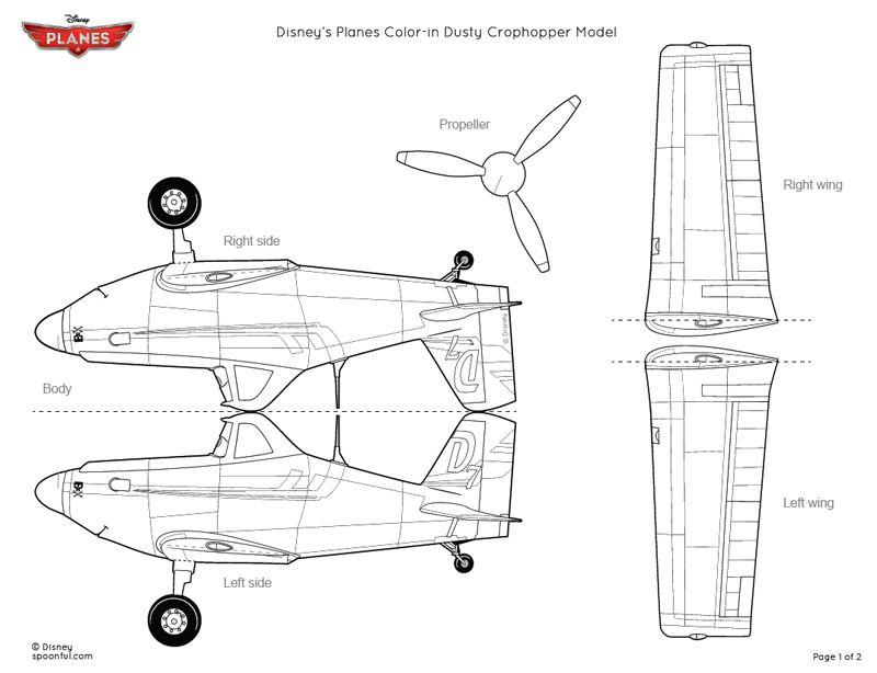 Dusty Crophopper Paper Model Printable | homeschool | Pinterest ...