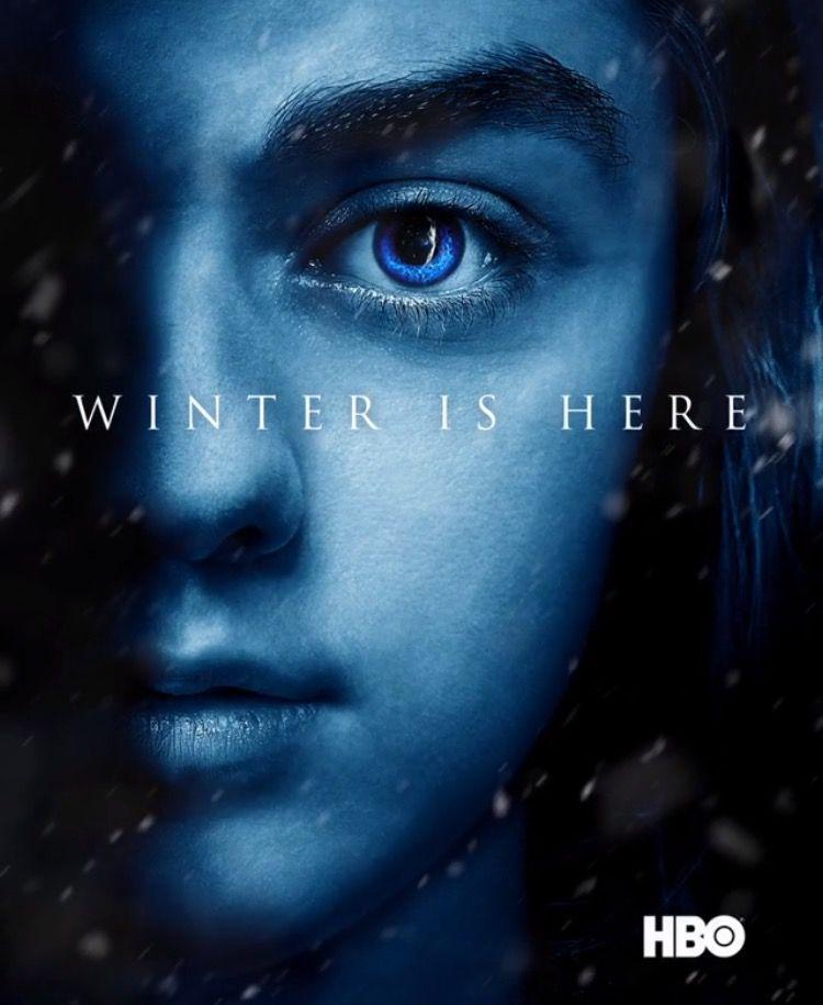 Winter Is Here Arya Stark Game Of Thrones Poster Game Of Thrones Winter Hbo