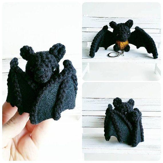 Bat Amigurumi Keychain by AnyaZoe on Etsy | Amigurumi | Pinterest ...