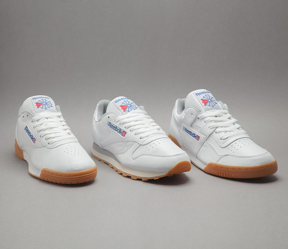 c92bad9ce9 reebok cl leather white gum