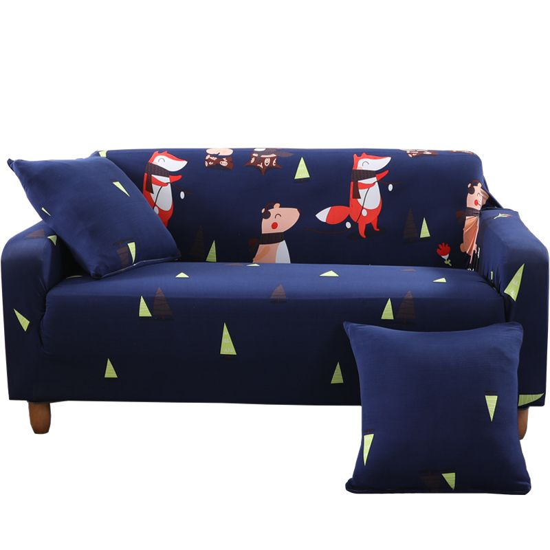 20 47 Blue Musical Concert Style Universal Sofa Cover Slipcover For Single Double Three Four Seat Design Home Decoration