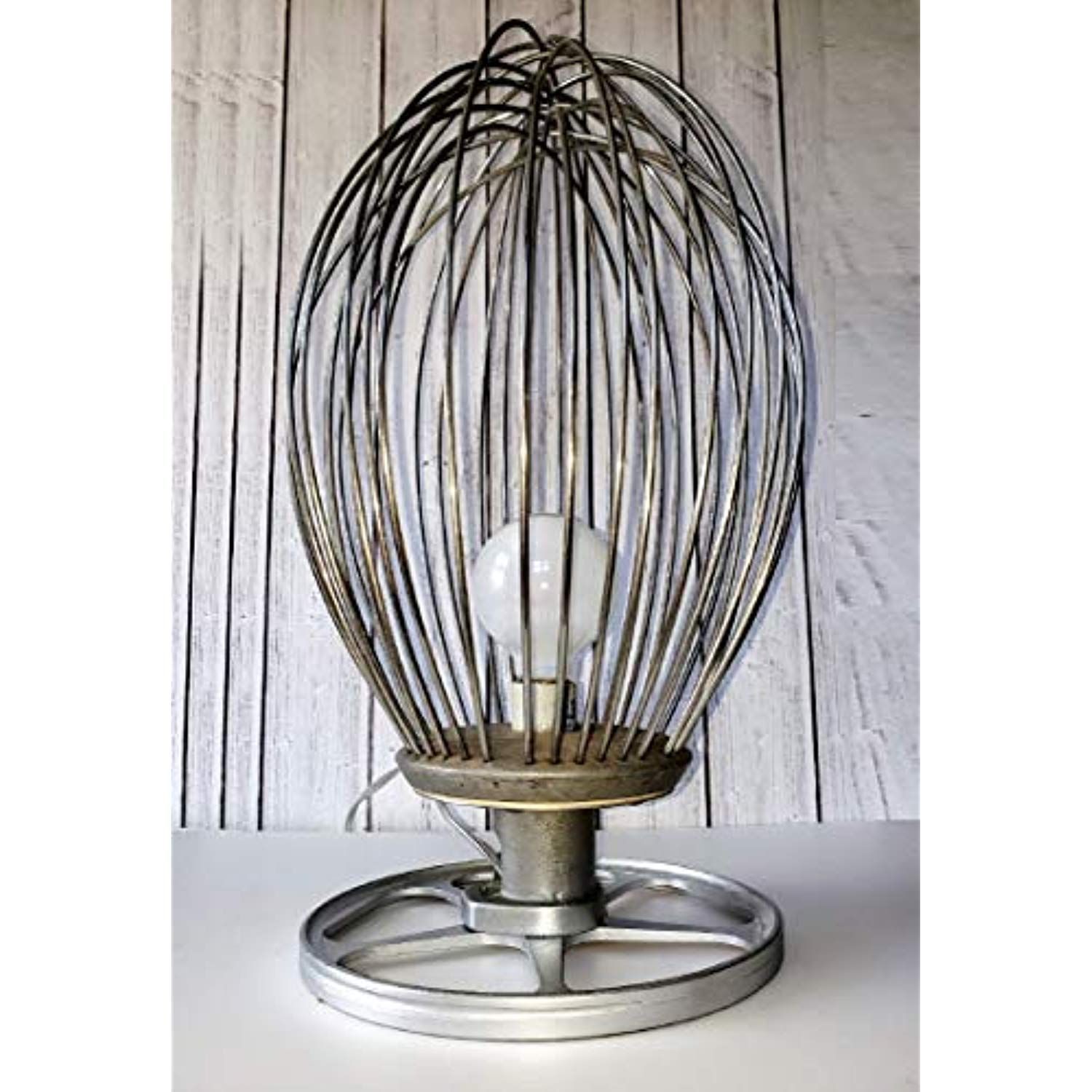 Farmhouse Style Industrial Mixer Whip Table Lamp, Rustic
